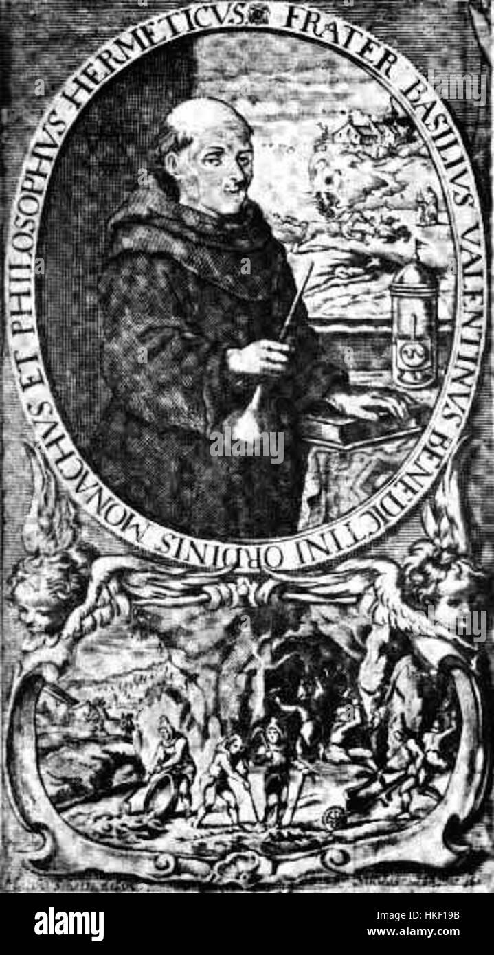 Basilius Valentinus Portrait Stockbild