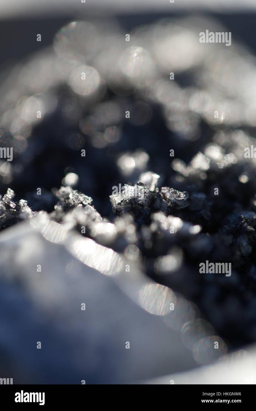Holzkohle Salz. Zutaten, Gewürze, Salz, Essen. Stockbild