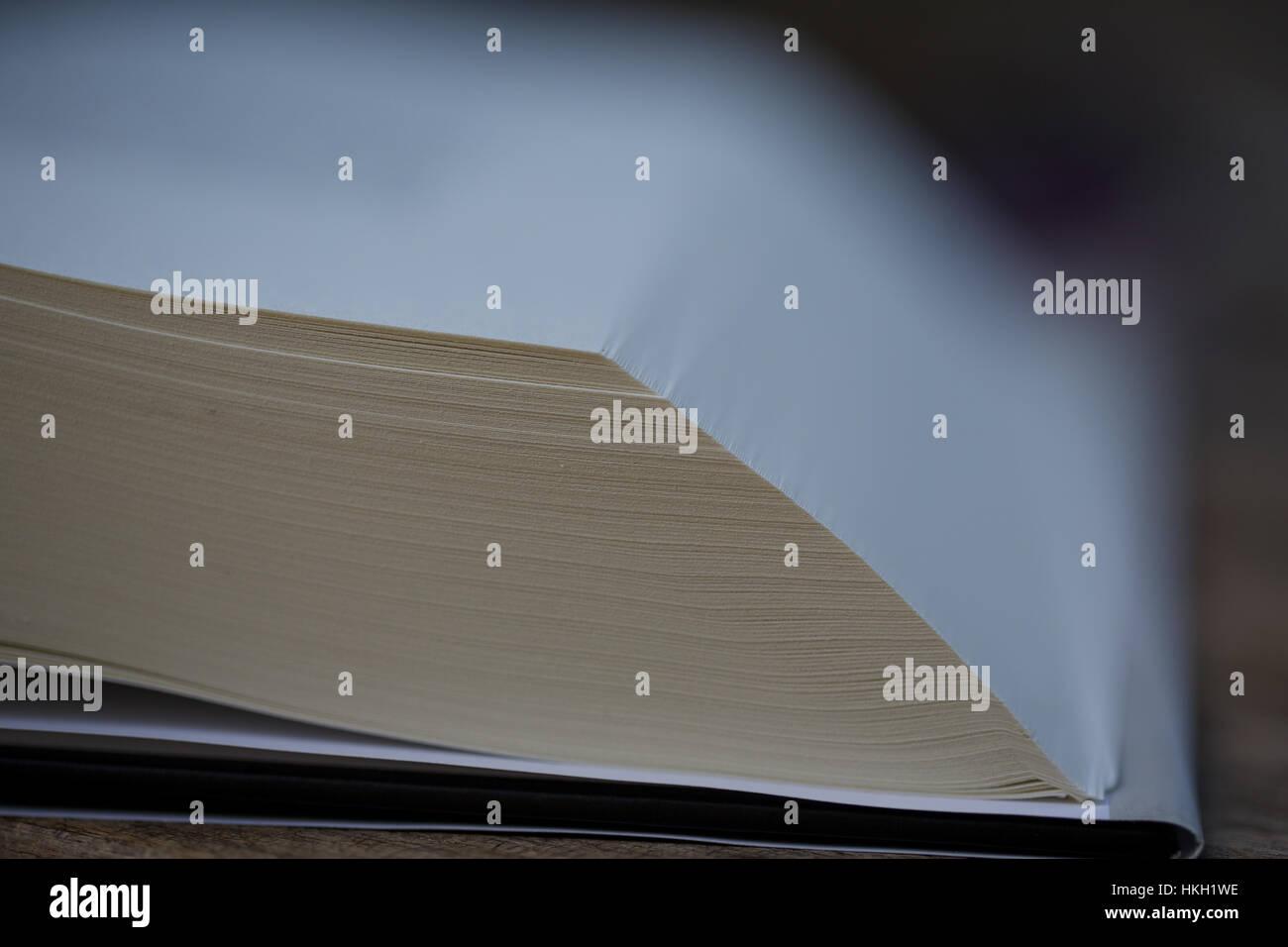 Öffnen Sie Adressbuch. Seite, Lehrbuch, Forschung, Bildung. Stockbild