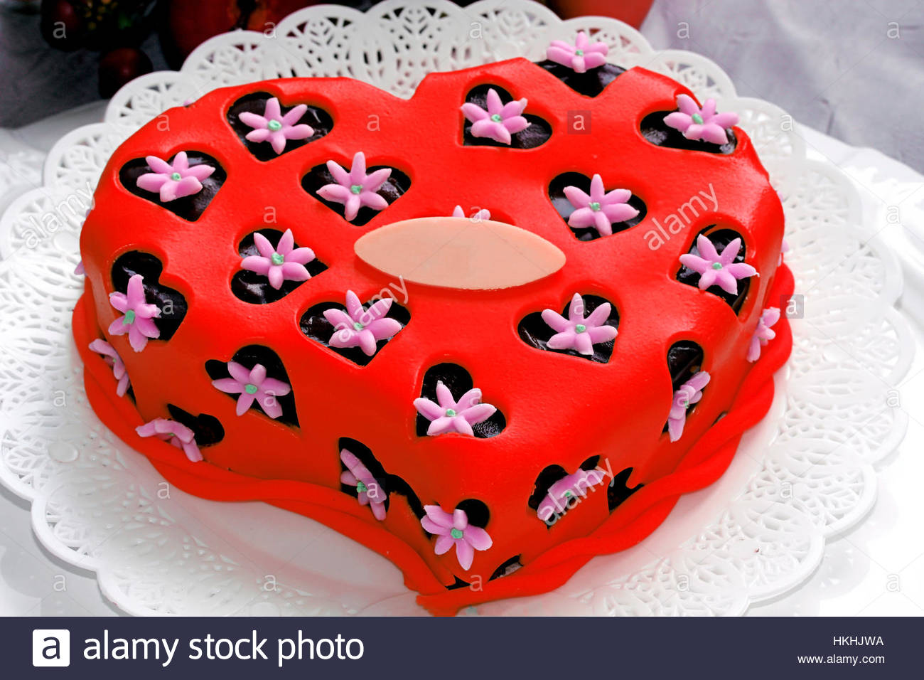 Valentinstag kuchen fondant