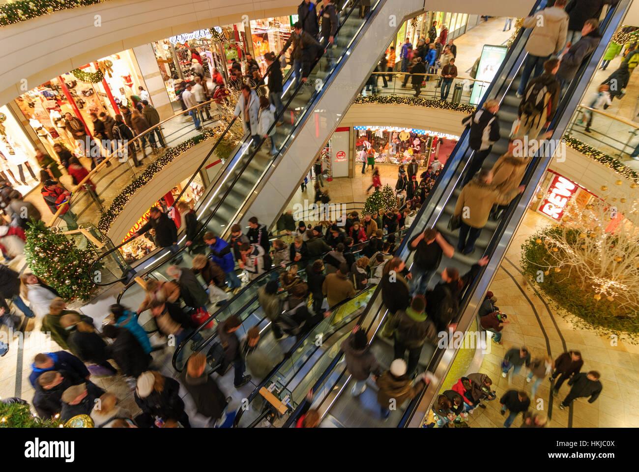 Dresden: Weihnachten Kauf in der shopping centre, Altmarkt