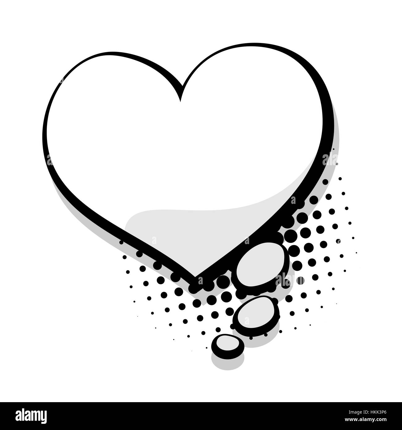 Leere Vorlage Comic-Sprechblase Herz Vektor Abbildung - Bild ...