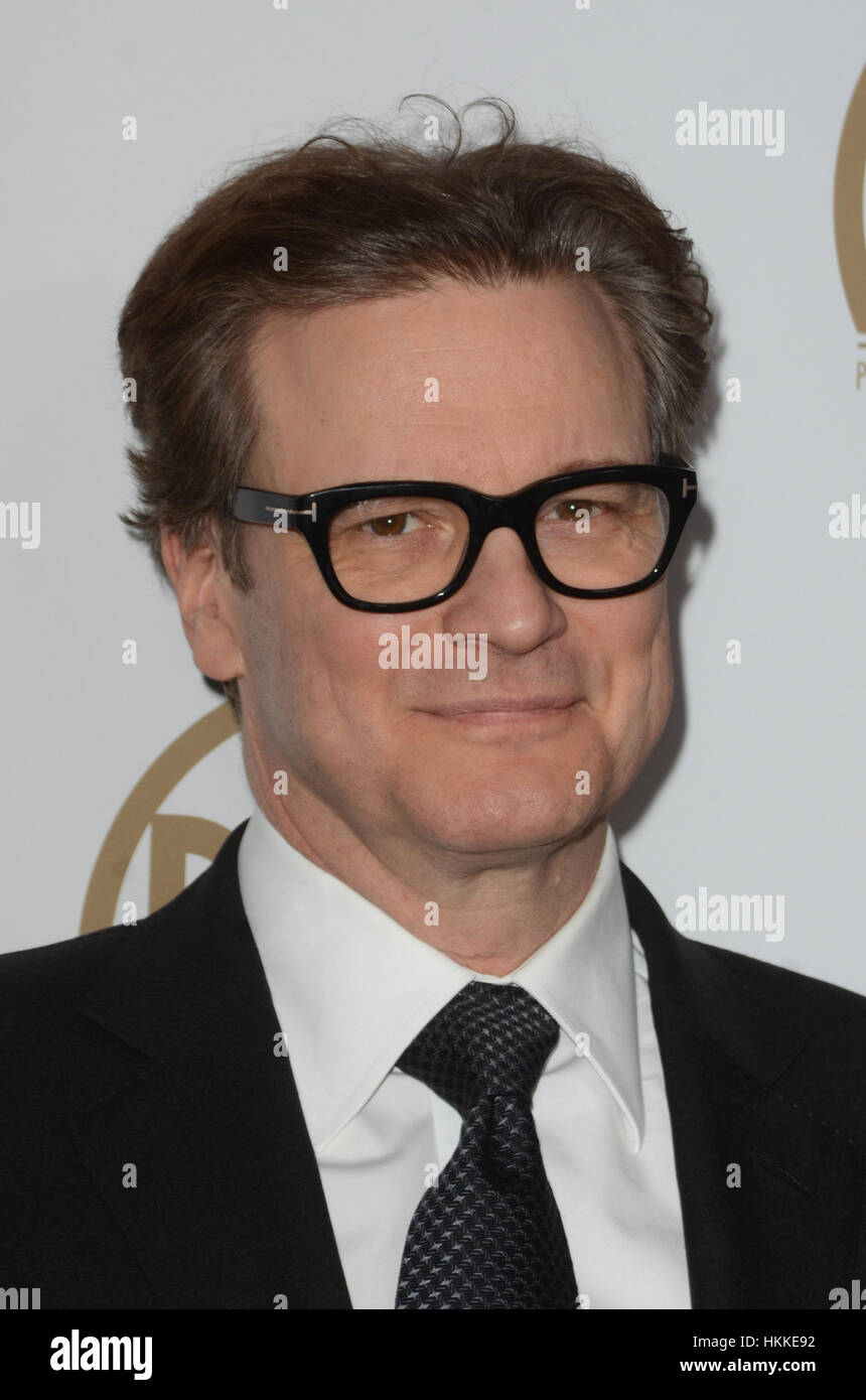 Beverly Hills, Ca. 28. Januar 2017. Colin Firth auf die 2017 Producers Guild Awards am 28. Januar 2017 im Beverly Stockbild