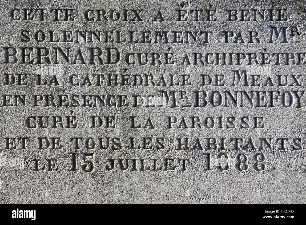 Herr Bernard. Pfarrer Erzpriester der Kathedrale von Meaux. Stockbild