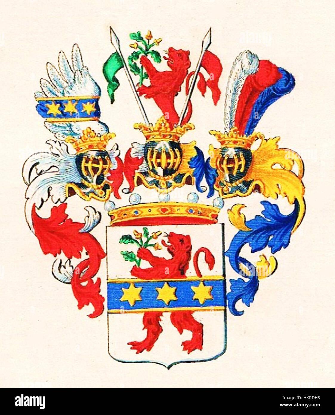 Cerrini-Freiherren-Wappen Stockfoto