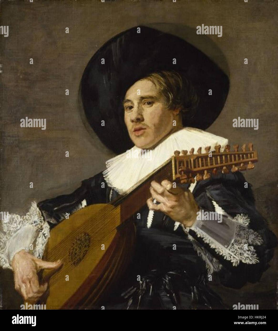 Kreis von Frans Hals - dem Lautenspieler Stockbild