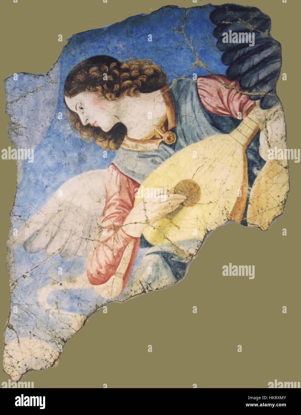 Da Forli - Engel mit laute fragment Stockbild
