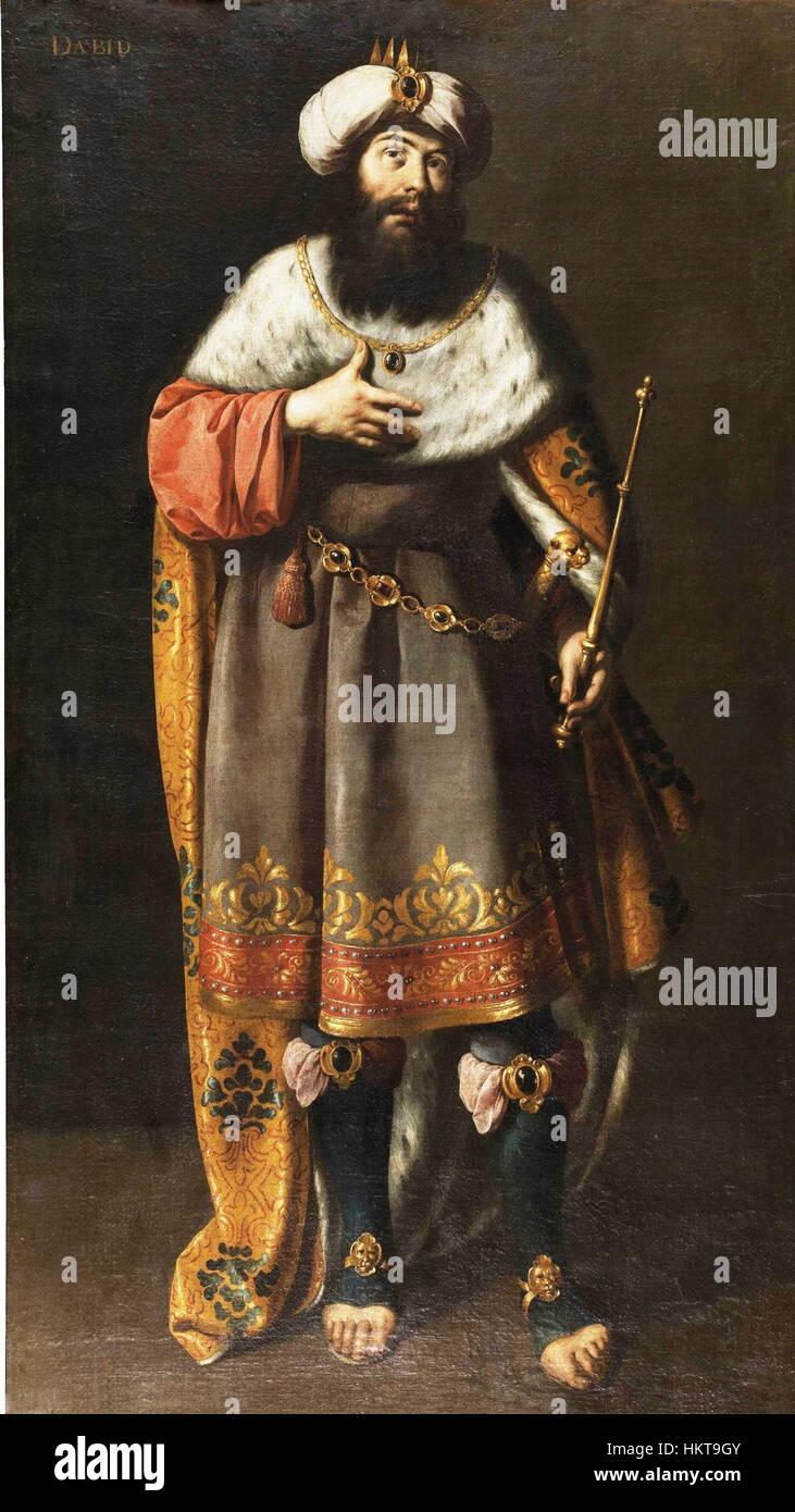 El Rey David De Ignacio De Ries Museo Del Prado Stockfoto Bild