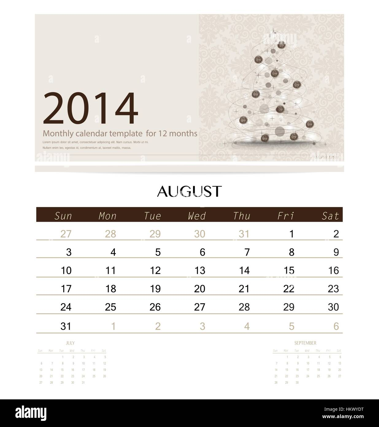 Beste Große Monatliche Kalendervorlage Bilder - Beispiel ...
