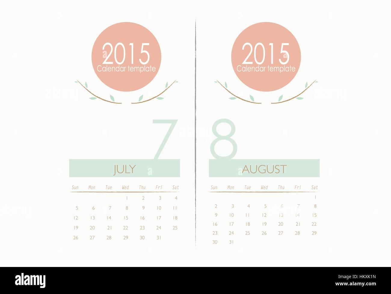 Atemberaubend Monatliche Kalendervorlagen 2015 Galerie - Beispiel ...