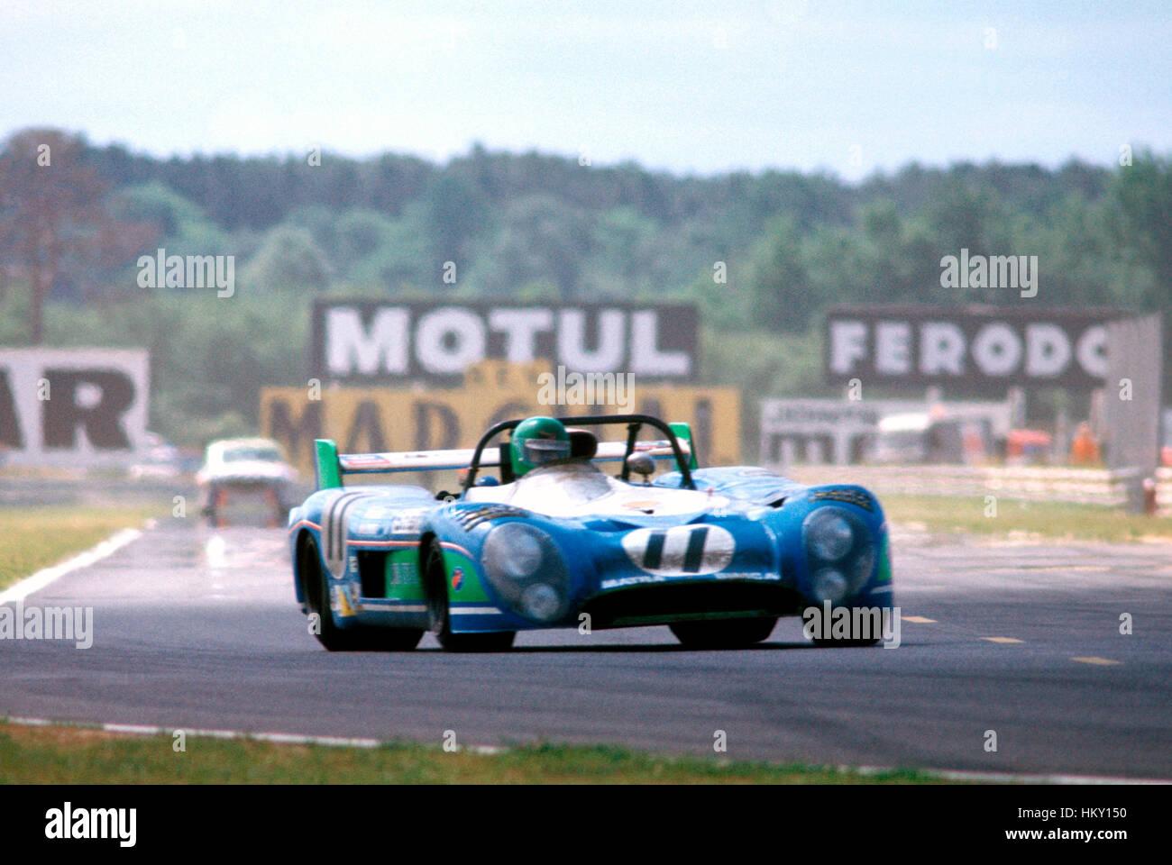 1973 von Henri Pescarolo französischen Matra MS670 Le Mans 24 Stunden 1. GG Stockfoto