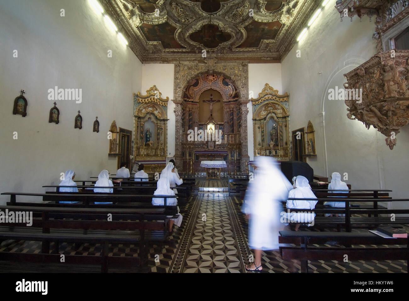 Geben Sie da Misericordia Kirche, Innenraum, Olinda, Pernambuco, Brasilien, UNESCO World Heritage Site Eglise da Stockbild