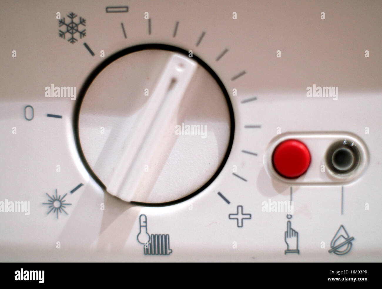 Eine Kontrolle der Temperatur eines Kessels in eine Nord-Londoner ...