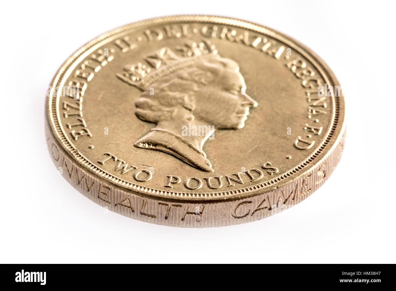 1986-zwei Pfund-Münze eingeführt, um den Commonwealth Games markieren Stockbild