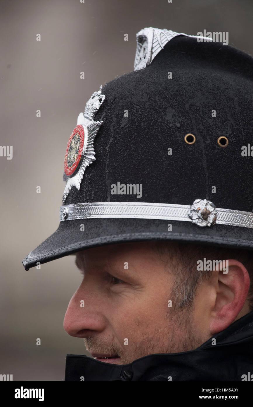Ein South Wales Polizist Helm. Stockbild