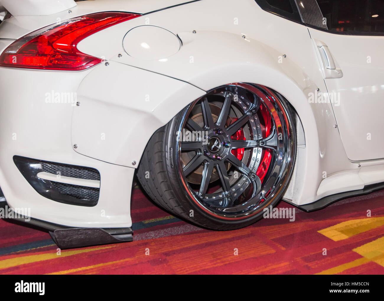 Japan custom car show stockfotos