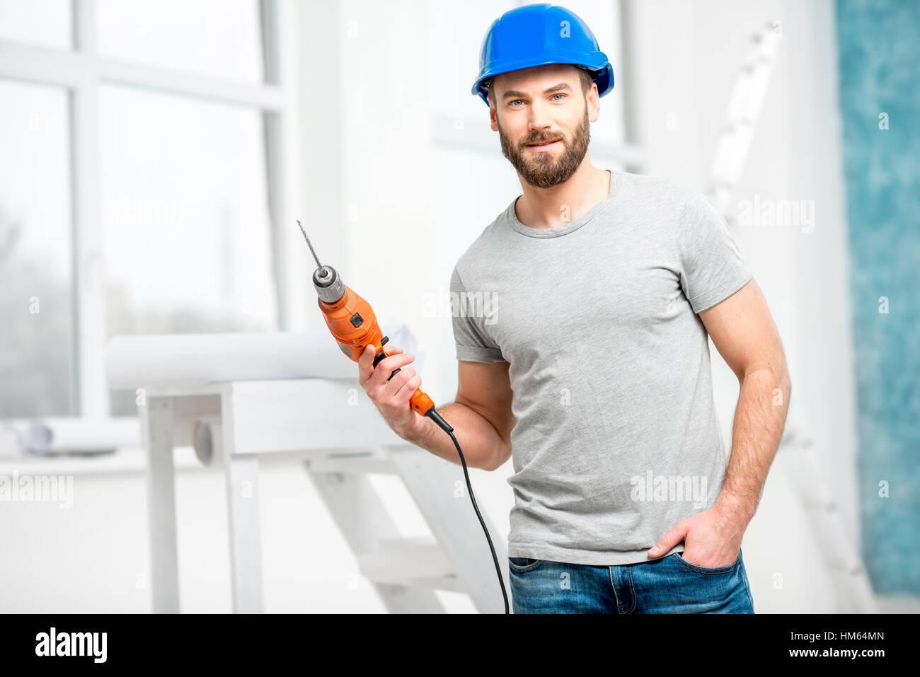 Indoor-Mechaniker Porträt Stockbild