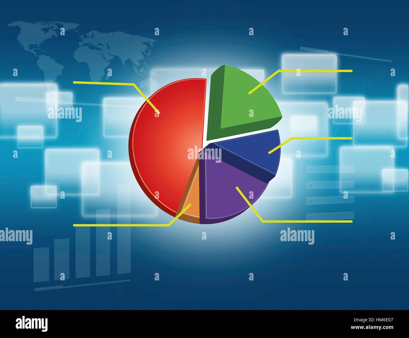 3d Render Bar Chart Pie Stockfotos & 3d Render Bar Chart Pie Bilder ...