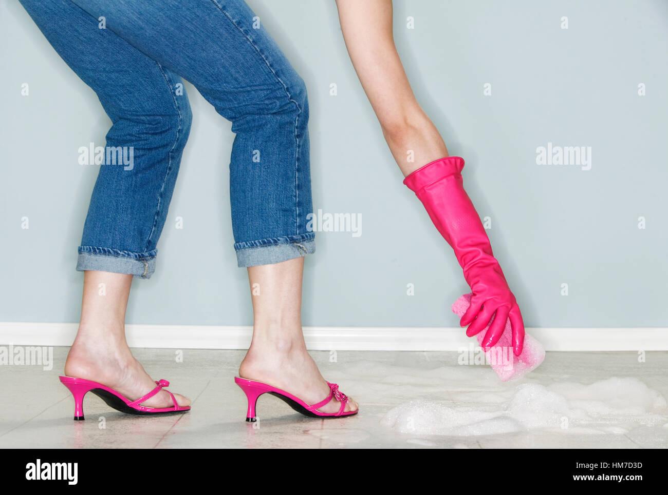 Reife Beine und High Heels