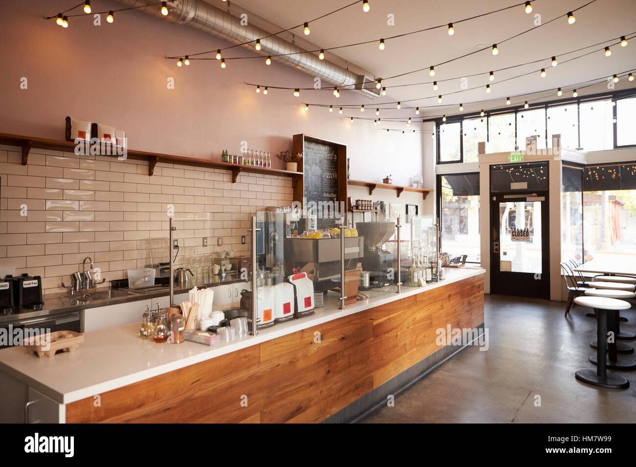 Leere Cafe Oder Bar Einrichtung Tagsüber Stockfoto Bild 132939221