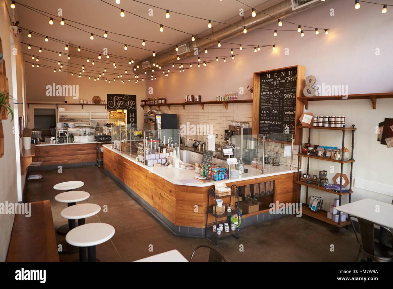 Leere Cafe Oder Bar Einrichtung Tagsüber Stockfoto Bild 132939222