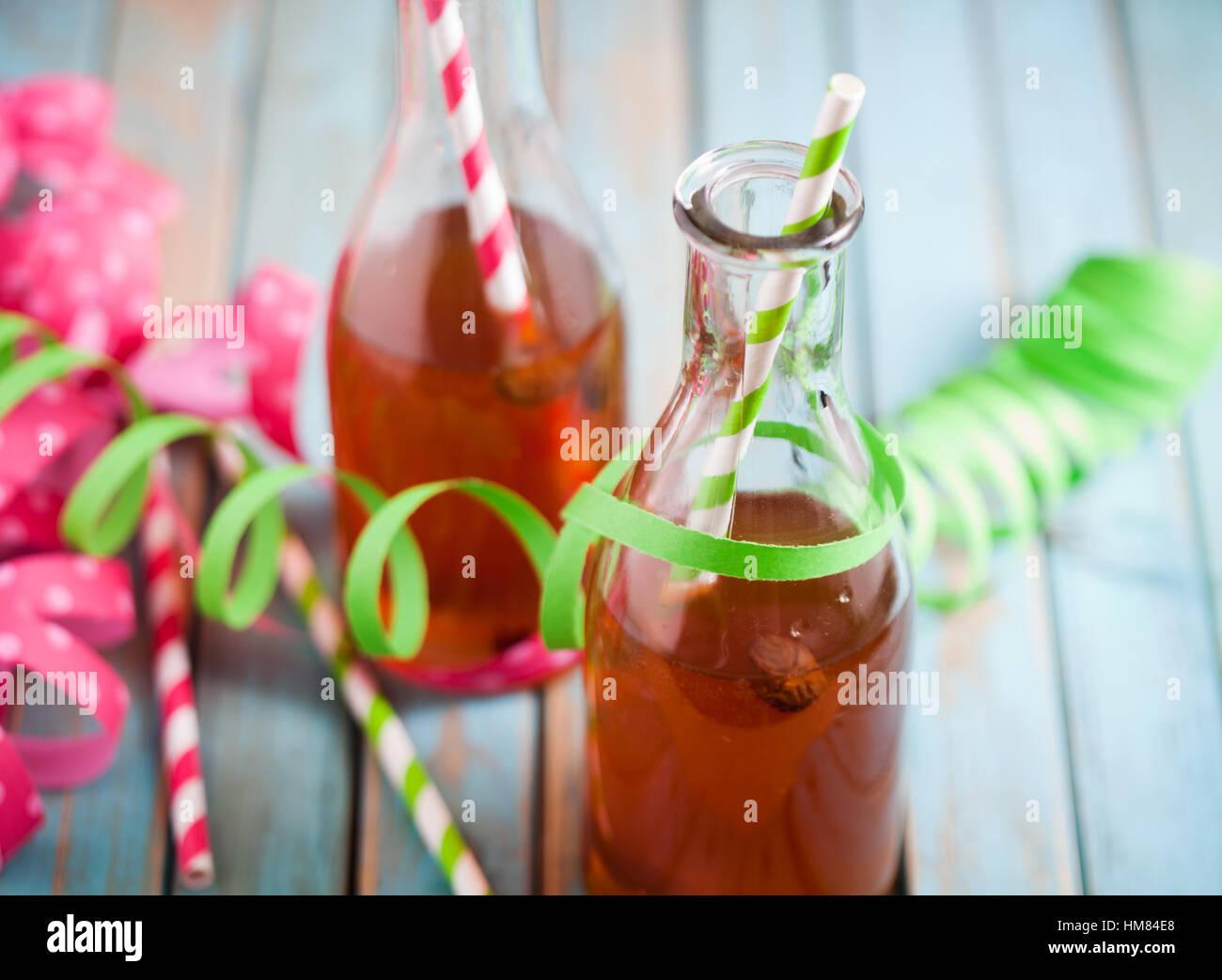 Vappusima, Getränk für finnische Feier des 1. Mai Stockfoto
