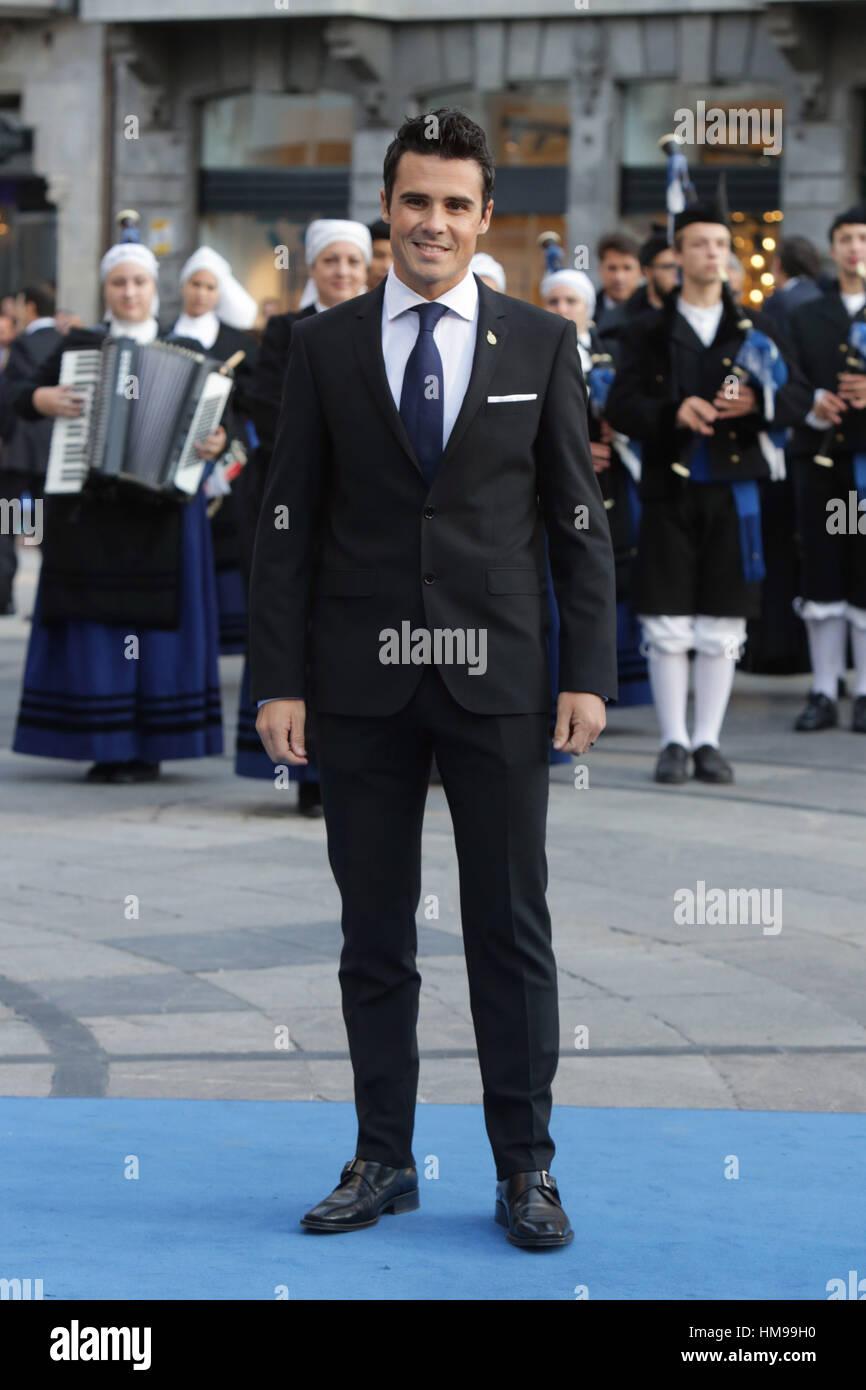 Javier Gomez Noya während der Prinzessin von Asturien Preise 2016 in Oviedo, auf Freitag, 21. Oktober 2016. Stockfoto