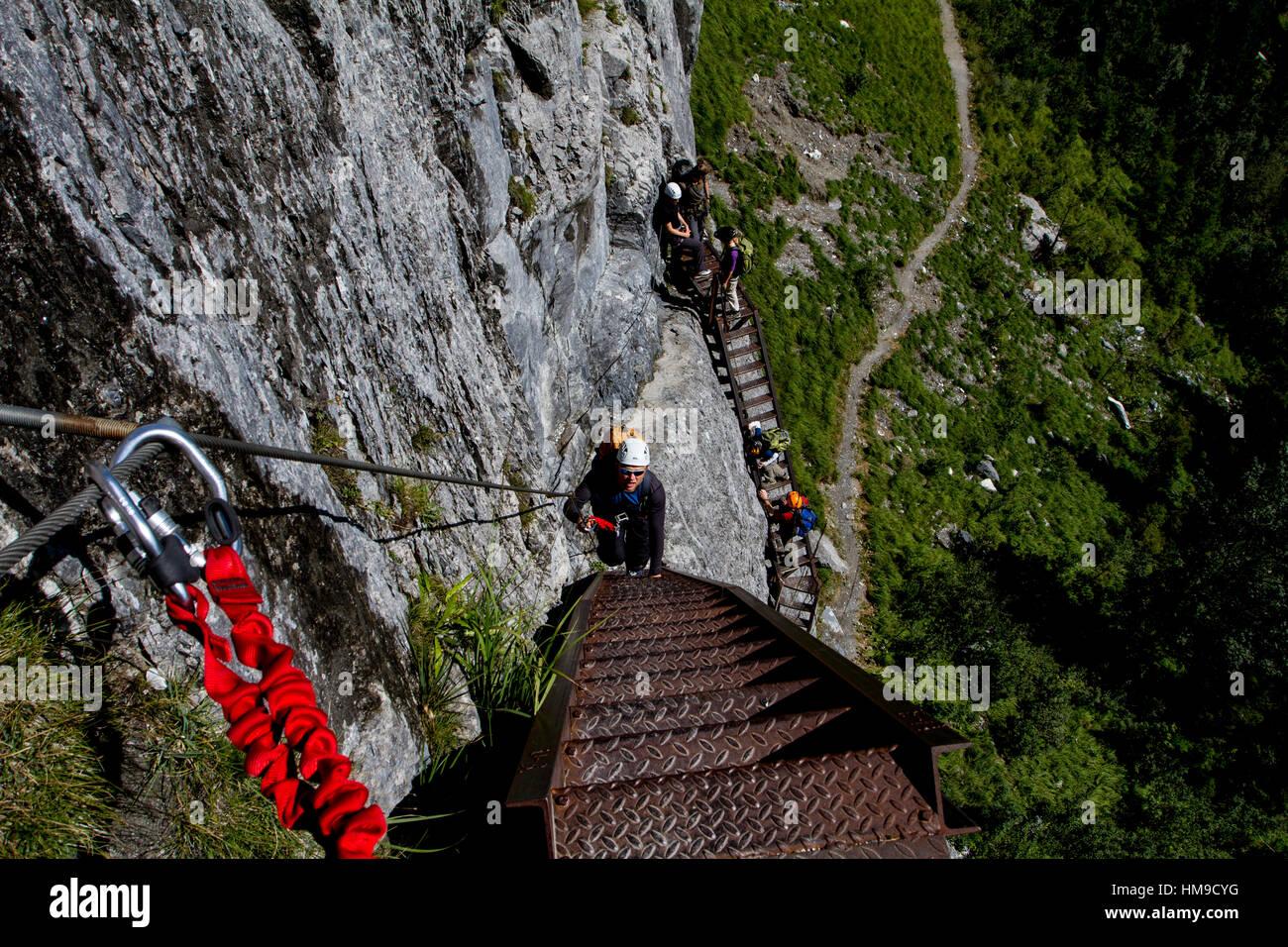 Klettersteig Schweiz : Moléson klettersteig ferrata de la face bergsteigen
