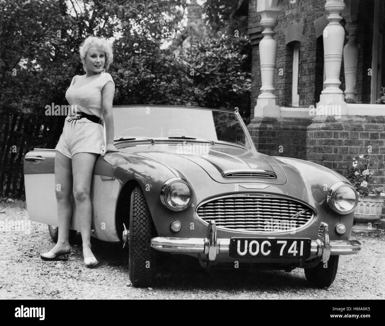 1957 Austin - Healey 100-6 Stockbild