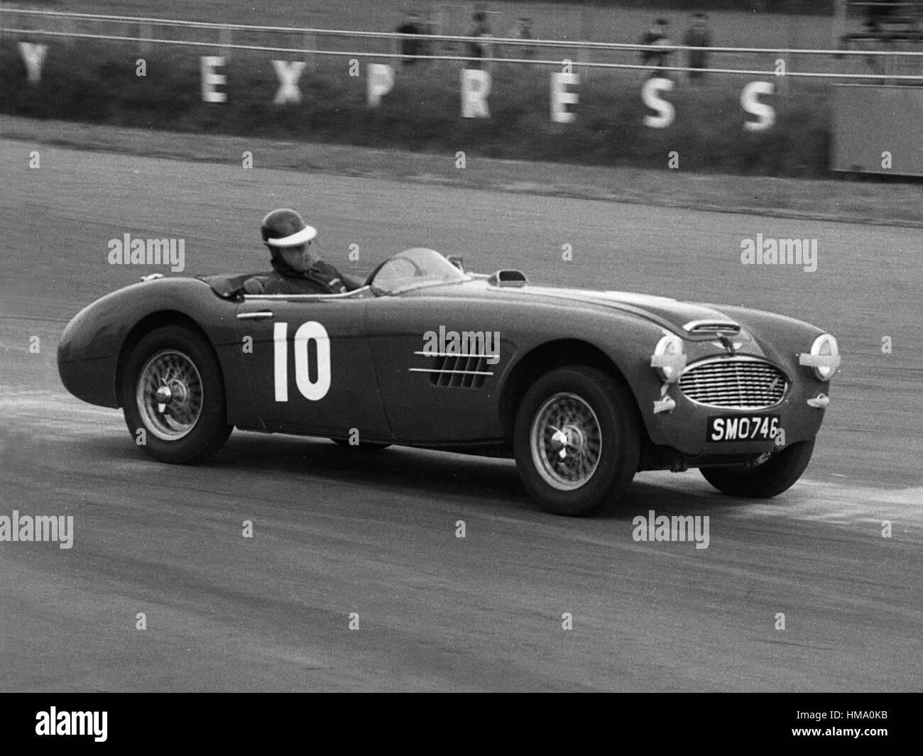Austin Healey 3000 mk1 John Gott, Silverstone 1961 Stockbild
