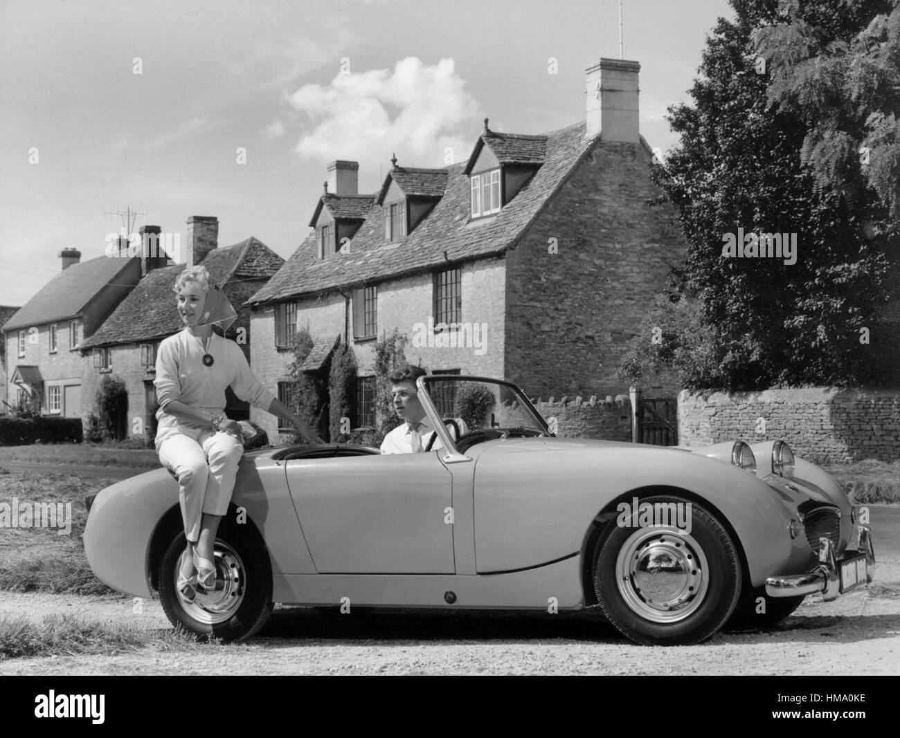 1958 Austin - Healey Sprite Stockbild