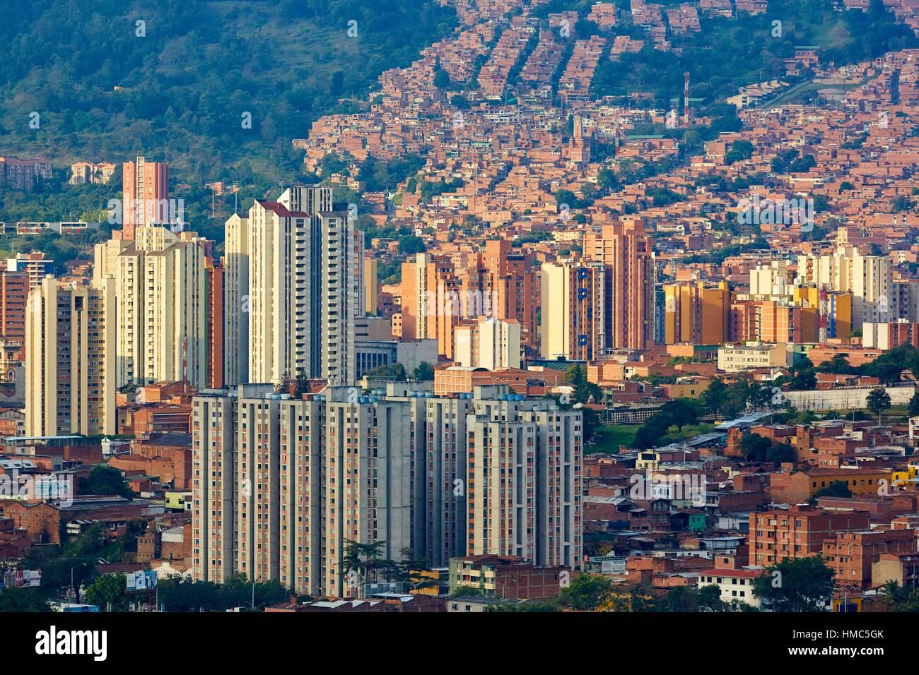 Panorama Aburra-Tal, Cerro Nutibara, Medellin, Antioquia, Kolumbien Stockbild