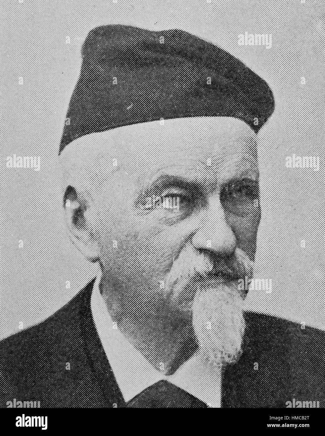 """""""Jakob Heinrich Hefner, 1856 von Hefner Alteneck, geboren 20. Mai 1811 in Aschaffenburg; 19. Mai 1903 in München Stockbild"""