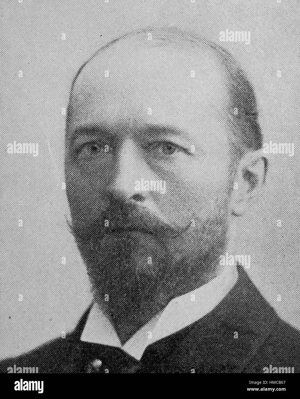 Emil von Behring, Emil Adolf von Behring,, wie Emil Adolf Behring geboren, 15. März 1854 - 31. März 1917, Stockbild