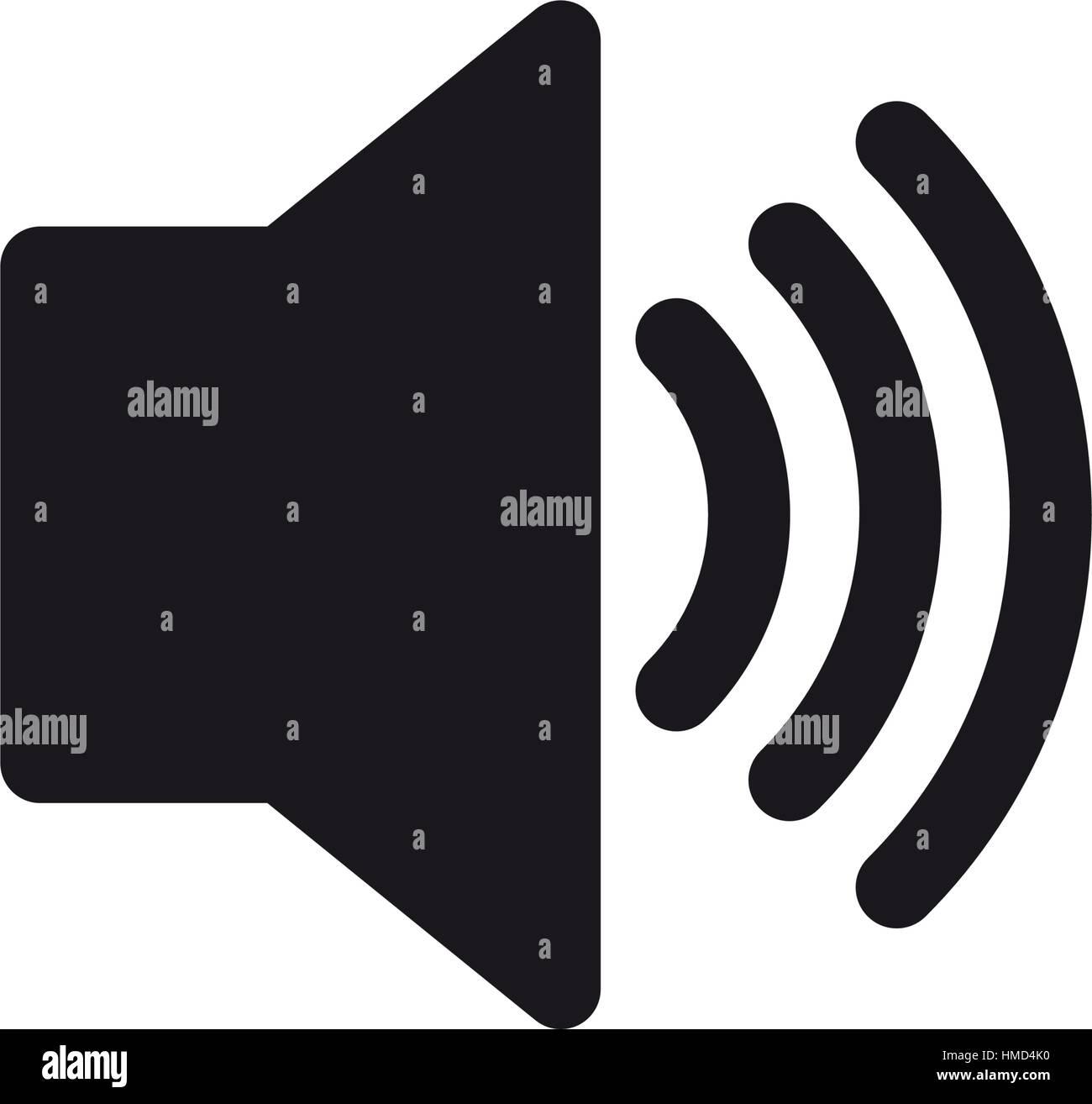 Lautsprecher-Lautstärke-Piktogramm Vektor Abbildung - Bild ...