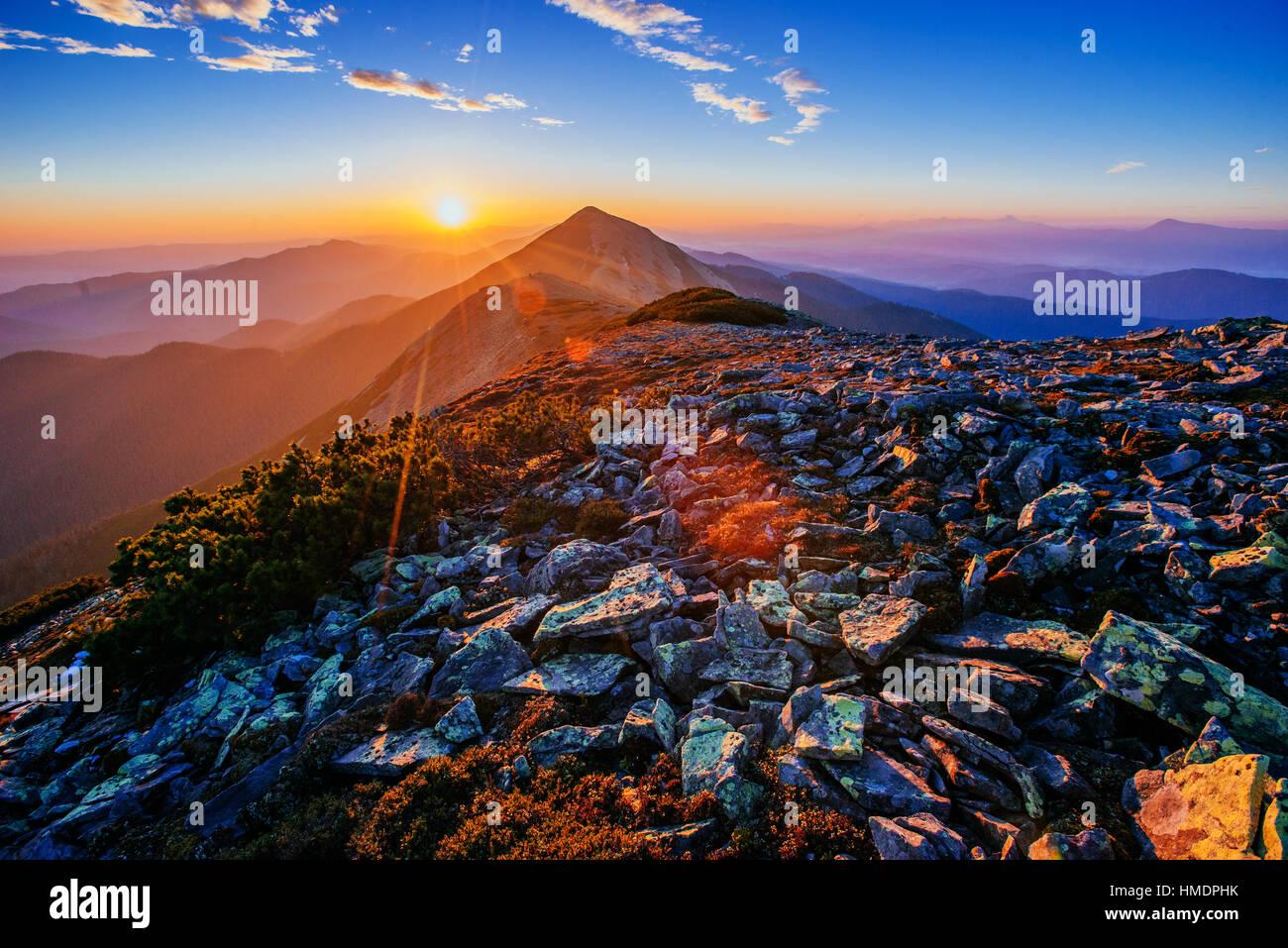 herrlichen Sonnenaufgang Stockbild