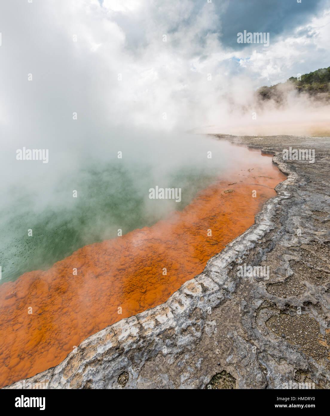Champagne Pool, heißen Frühling, Waiotapu geothermische Wunderland, Rotorua, Nordinsel, Neuseeland Stockbild