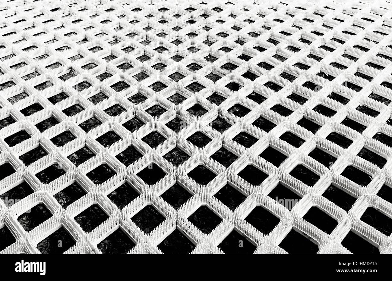 Anti-Rutsch Teppich Teppich Sicherheitskonzept Slip Textile Stockbild