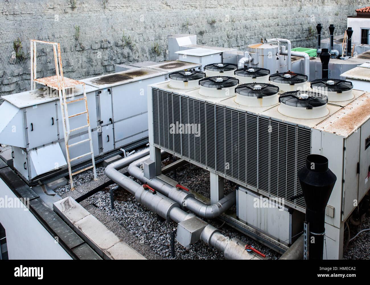 Industrielle Heizung Lüftung und Klimaanlage Rekuperator Dach ...