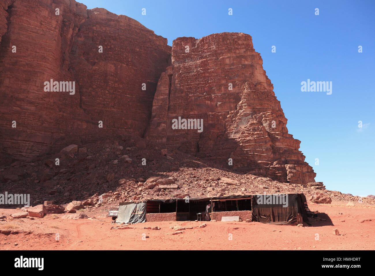 Szene der Wüste Wadi Rum, Jordanien Stockfoto