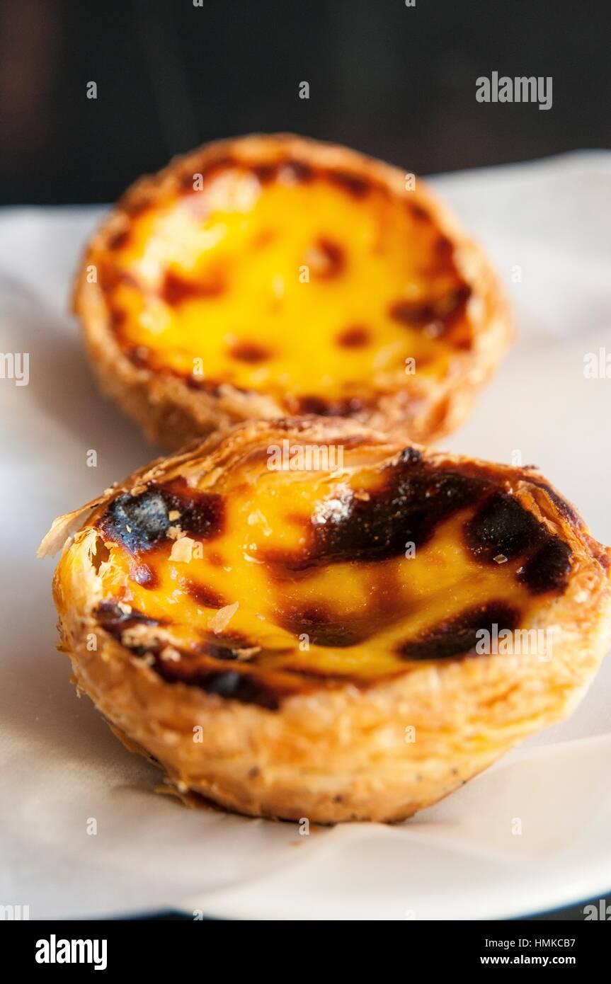 Pasteis De Belem Typisch Portugiesischen Kuchen Lissabon