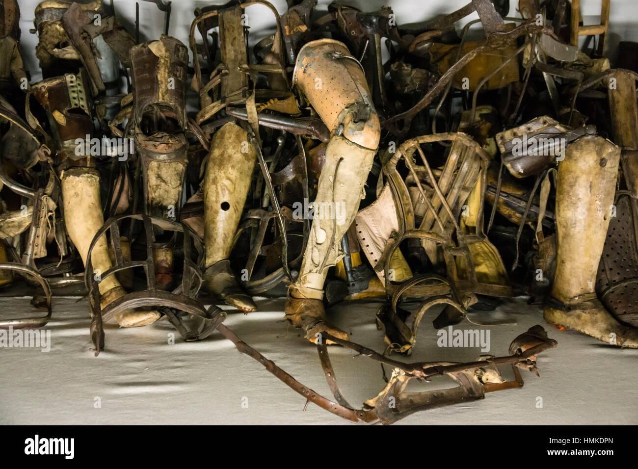 protesis de los. deportados. campo de concentracion de auschwitz i