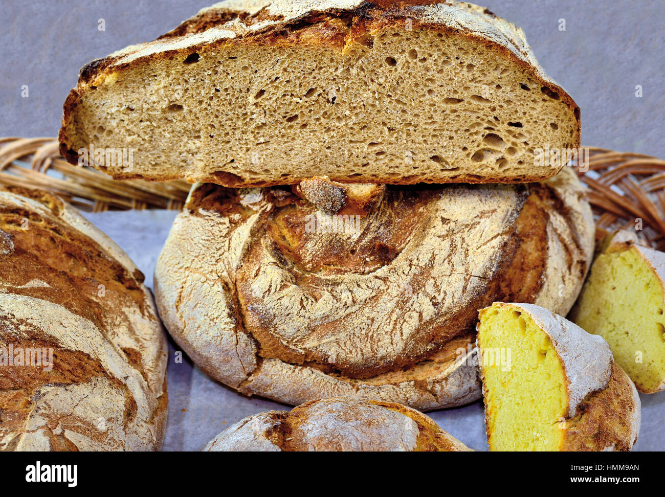 Traditionelle Bauern Brot Stockbild