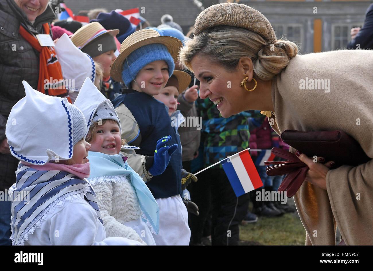 Oranienbaum Deutschland 10 Februar 2017 Königin Maxima Der