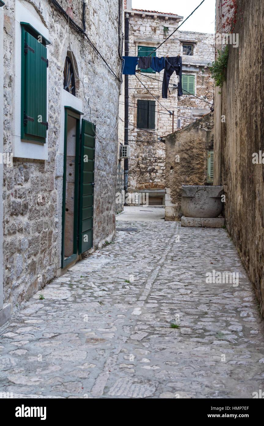 Stadt Sibenik, Adria, Kroatien Stockfoto