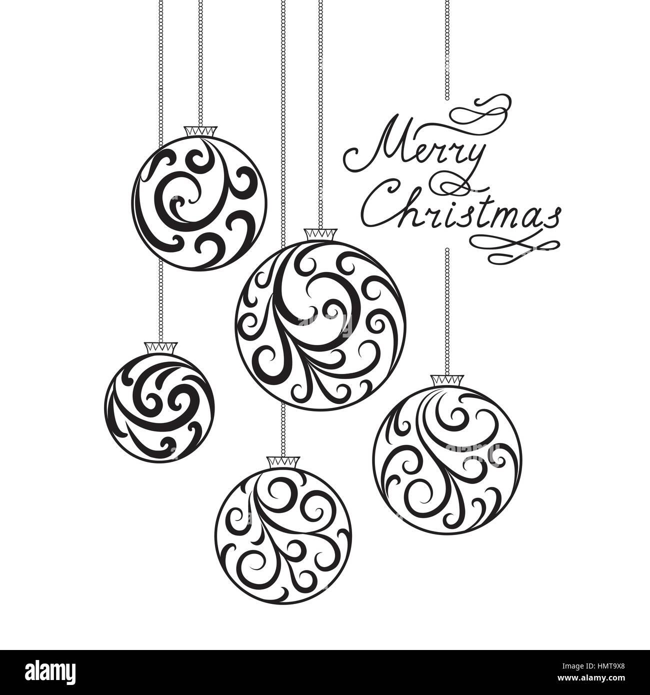 Schriftzug Frohe Weihnachten.Weihnachten Hintergrund Mit Doodle Ball Handschriftliche Schriftzug