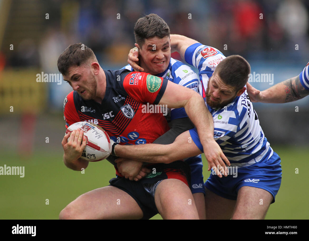 Die Shay Stadium, UK. 5. Februar 2017. Shay Stadion, Halifax, West Yorkshire 5. Februar 2017. Halifax V Featherstone Stockfoto
