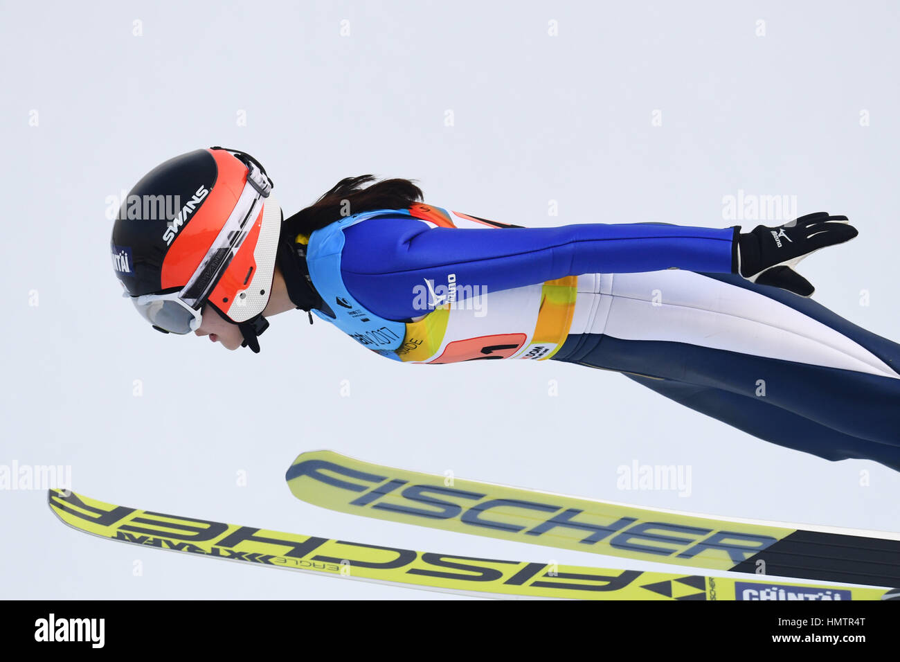 Almaty, Kasachstan. 5. Februar 2017. Yuka Kobayashi (JPN) auf den 28. Winter-Universiade Almaty 2017 Frauen Nationalmannschaft Stockfoto