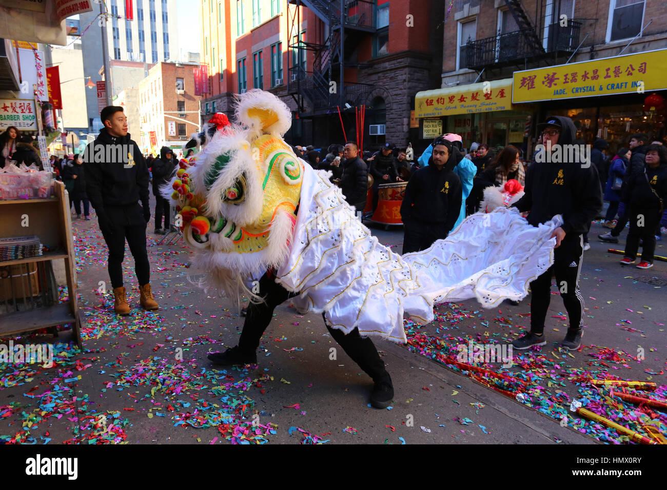 New York, USA. 4. Februar 2017. New York Chinatown feiern Lunar New ...
