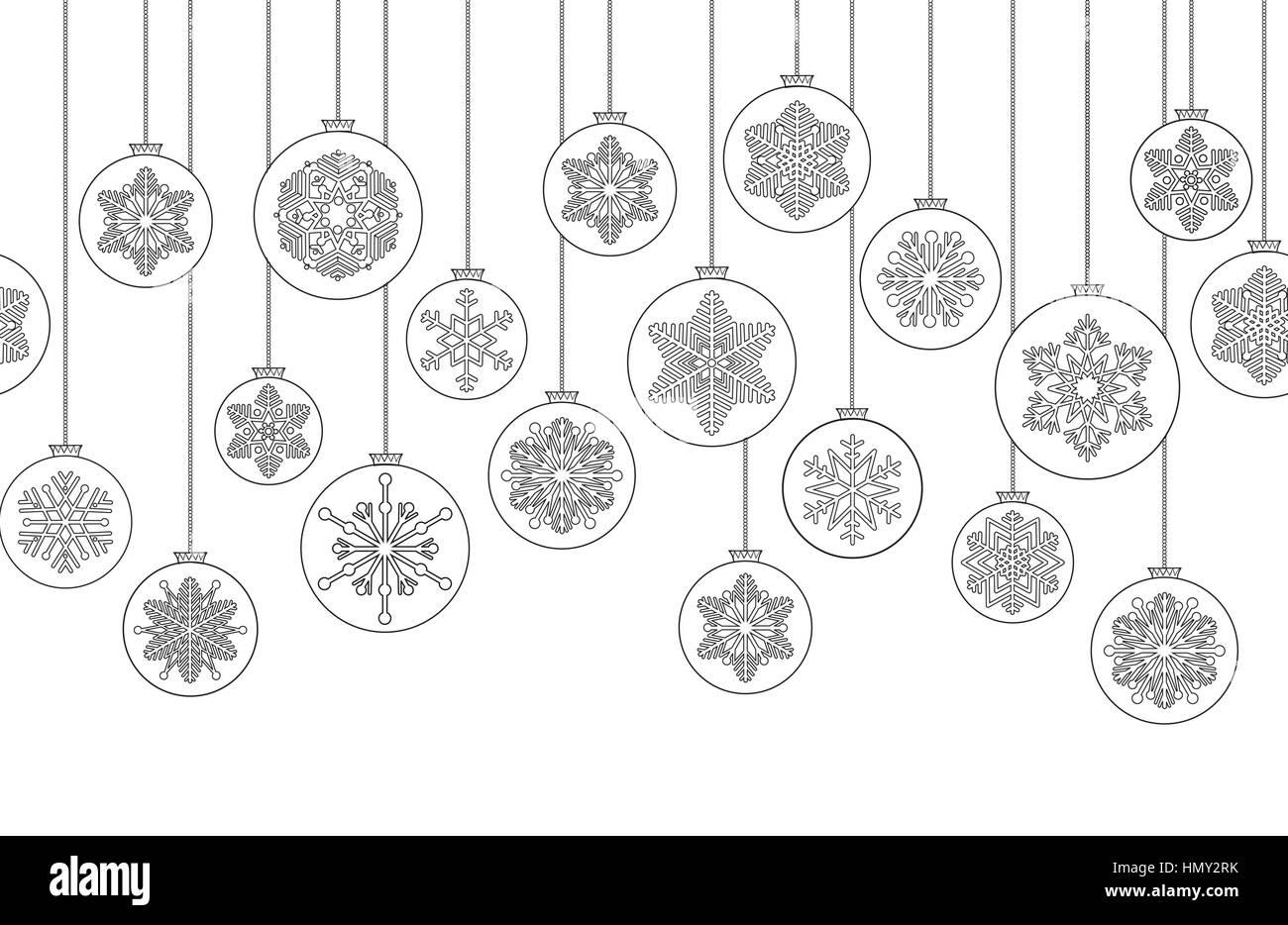 Weihnachten Hintergrund mit Kugel doodle Dekor Elemente. happy ...